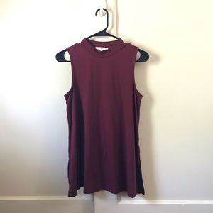 Wine Colored Sleeveless Top
